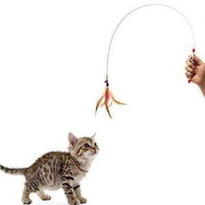 Kattenspeelhengel met metalen draad